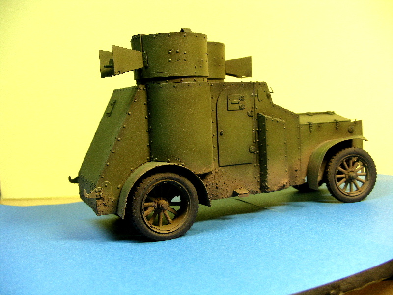 Armstrong-Whitworth- Fiat (Izorski) Russian armored Car WW I Peintu14