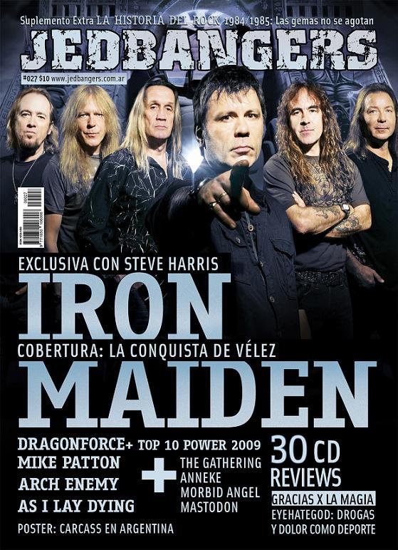 Maiden en revista Jedbangers nº27 Tapa2710