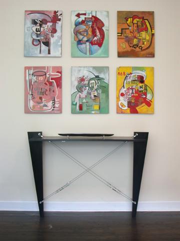 Peintures pour hall d'entrée avec vide sur hall Corred10