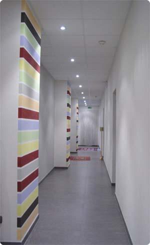 Peintures pour hall d'entrée avec vide sur hall Oc_05-10