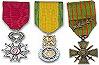 Décorations et Médailles (Officielles) des Membres Inscrits du Site.