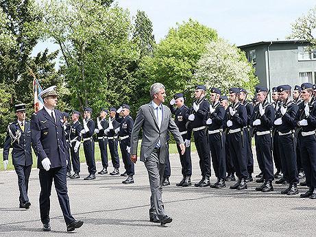 Dissolution de la base aérienne 132 : le ministre à Colmar Honneu11