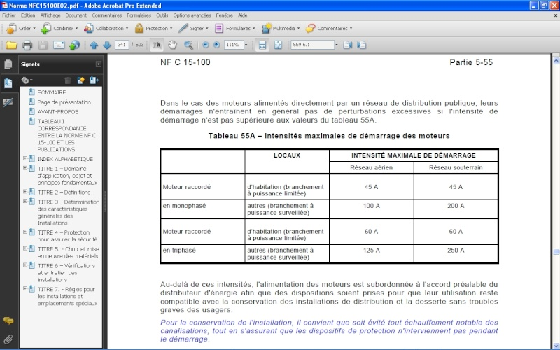 Autorisation préalable à EDF pour démarrage gros moteur ? Tab_110