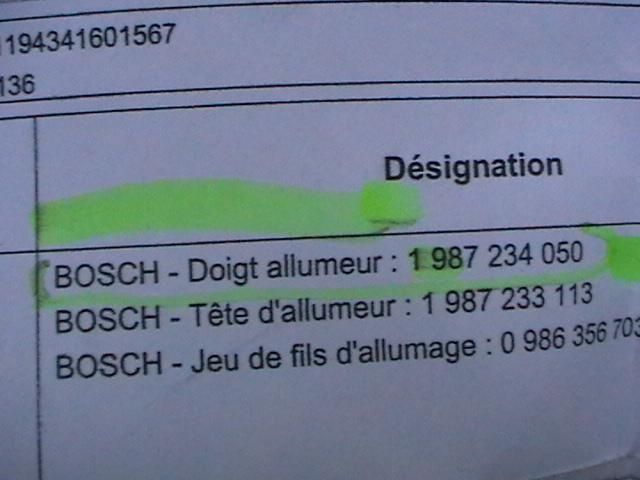 """[Vente][Origine] """" un Doigt d'Allumeur Bosch pour Moteur ga16ds Carburateur : le prix d'achat HT + les fdp """" Imga0420"""