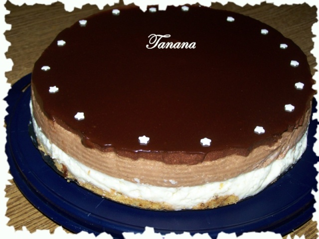 chocolat - Entremet aux 3 chocolats et son miroir de chocolat noir Miroir10