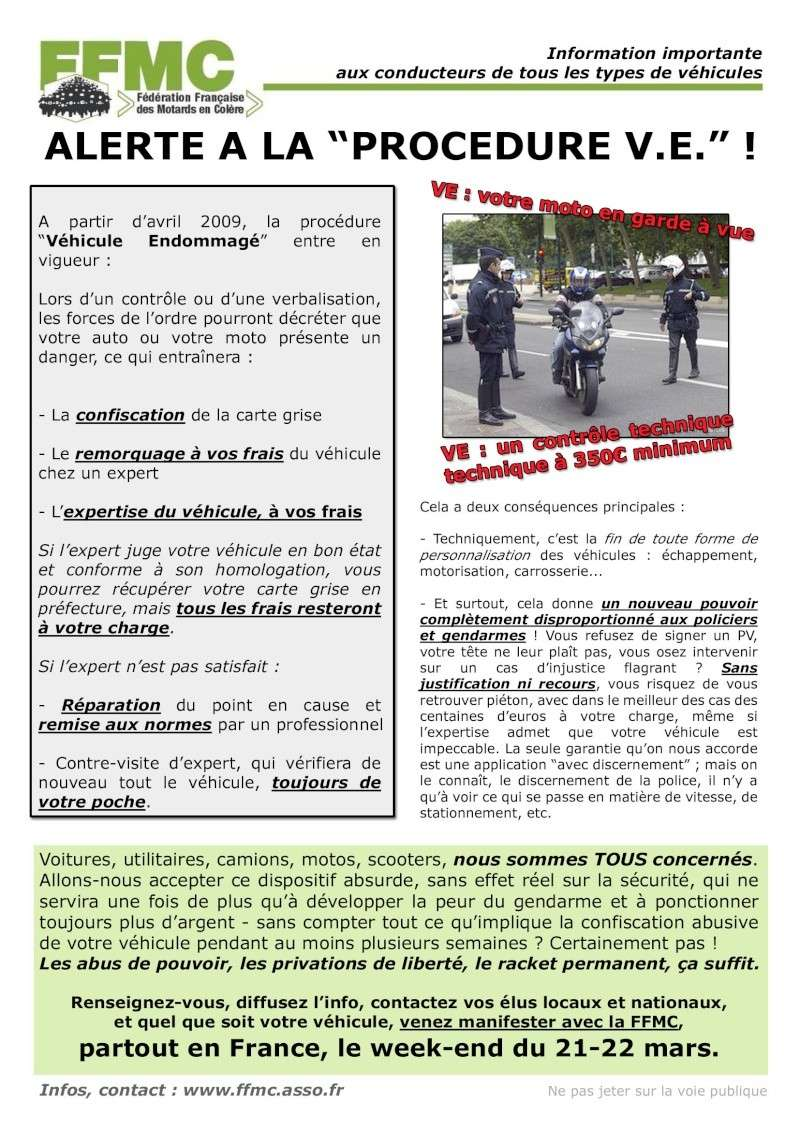 "PROCEDURE  "" VE "" et manif du 21 mars ... Affich11"