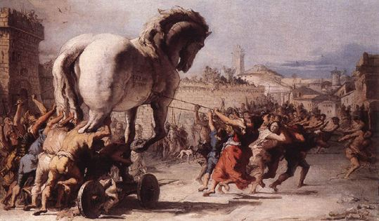 La guerre de Troie Cheval10