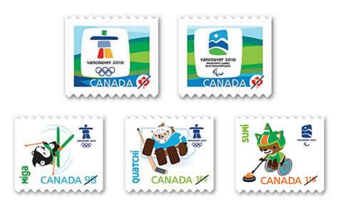 Timbres Officiels (Canada) des Jeux Olympiques de Vancouver 2010 2010-g10