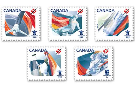 Timbres Officiels (Canada) des Jeux Olympiques de Vancouver 2010 2010-o10