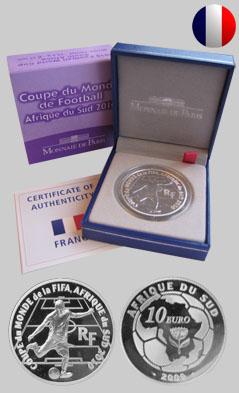 France - Pièce commémorative pour la Coupe du Monde de Football FIFA 2010 en Afrique du Sud 76959110