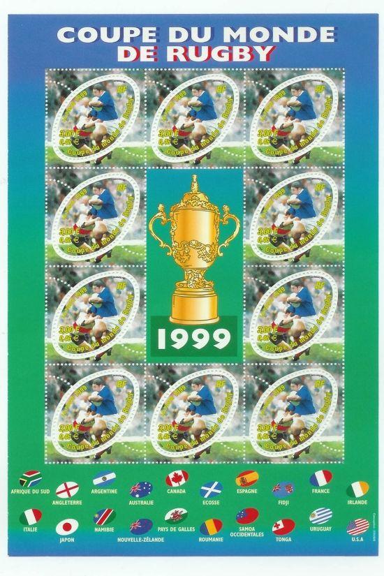 """Retour sur le bloc philatélique """"Coupe du Monde de Rugby 1999"""" - Premier timbre ovale ! Bloc_r10"""