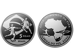 Brésil - Pièce commémorative pour la Coupe du Monde de Football FIFA 2010 en Afrique du Sud Brazil10