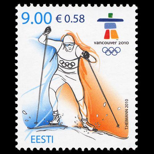 Timbre Estonie - Jeux Olympiques Vancouver 2010 Estoni10