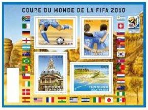 Timbres de la Coupe du Monde de Football FIFA 2010 Fr-blo10