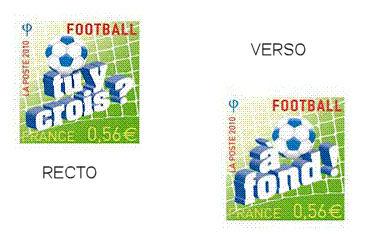 Timbres France - Coupe du Monde de Football FIFA Afrique du Sud 2010 Fr-tim10