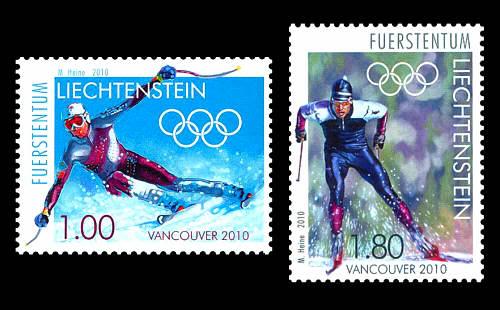 Timbres Liechtenstein - Jeux Olympiques Vancouver 2010 Liecht10