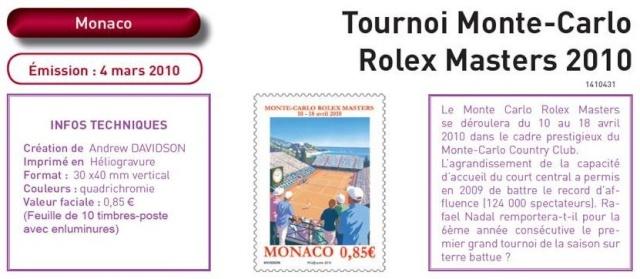 Timbre Monaco - Open de Tennis de Monte-Carlo 2010 Monaco12
