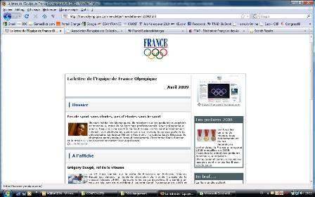 Newsletter du CNOSF - Avril 2009 Newscn10
