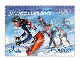 Timbre Pologne - Jeux Olympiques Vancouver 2010 Poland10