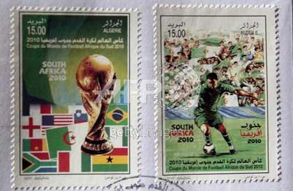 Timbres Algérie - Coupe du Monde de Football FIFA Afrique du Sud 2010 Timbre12