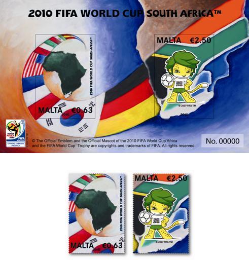 Timbres Malte - Coupe du Monde de Football FIFA Afrique du Sud 2010 Update10