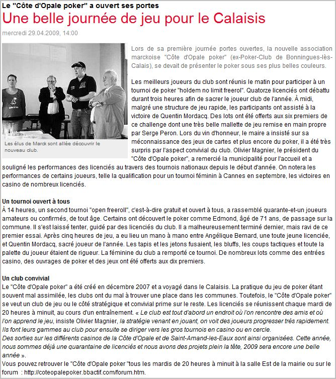 Article de presse Nord littoral Articl10