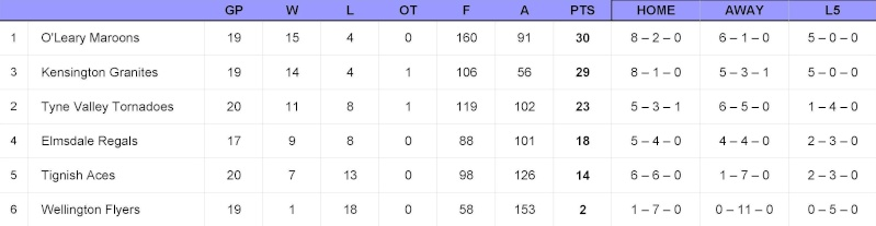 08/09 Easy-Stow ISHL Standings - Feb 8th/09 Standi10