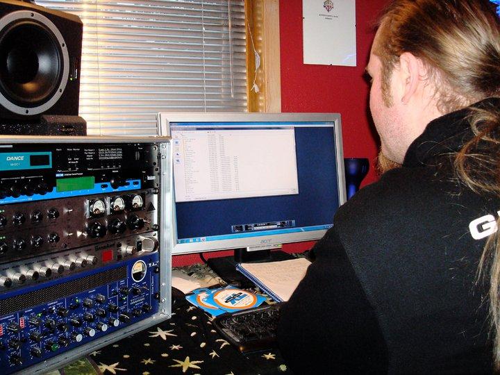 Recording in Studio Morten11