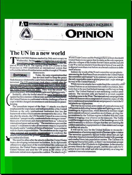 ONE WORLD GOVERNMENT - NEW WORLD ORDER UNDER UNITED NATIONS Pnypd128
