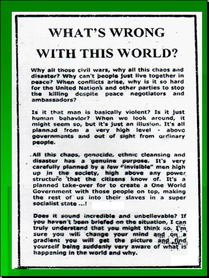 ONE WORLD GOVERNMENT - NEW WORLD ORDER UNDER UNITED NATIONS Pnypd134