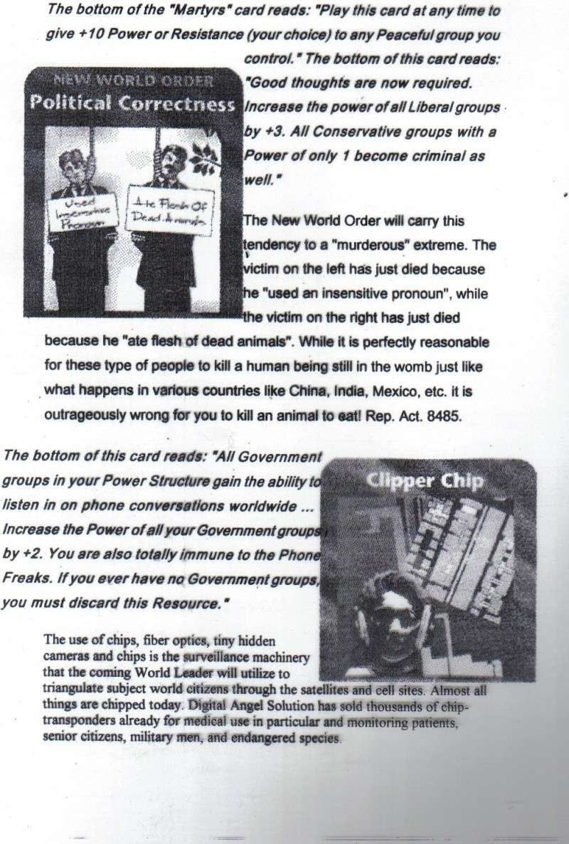 One World Government Expose - INWO SUB-GENIUS GAMES - HOW THE RICH WILL DESTROY TO CONQUER, A GAME BY STEVE JACKSON Pp1810