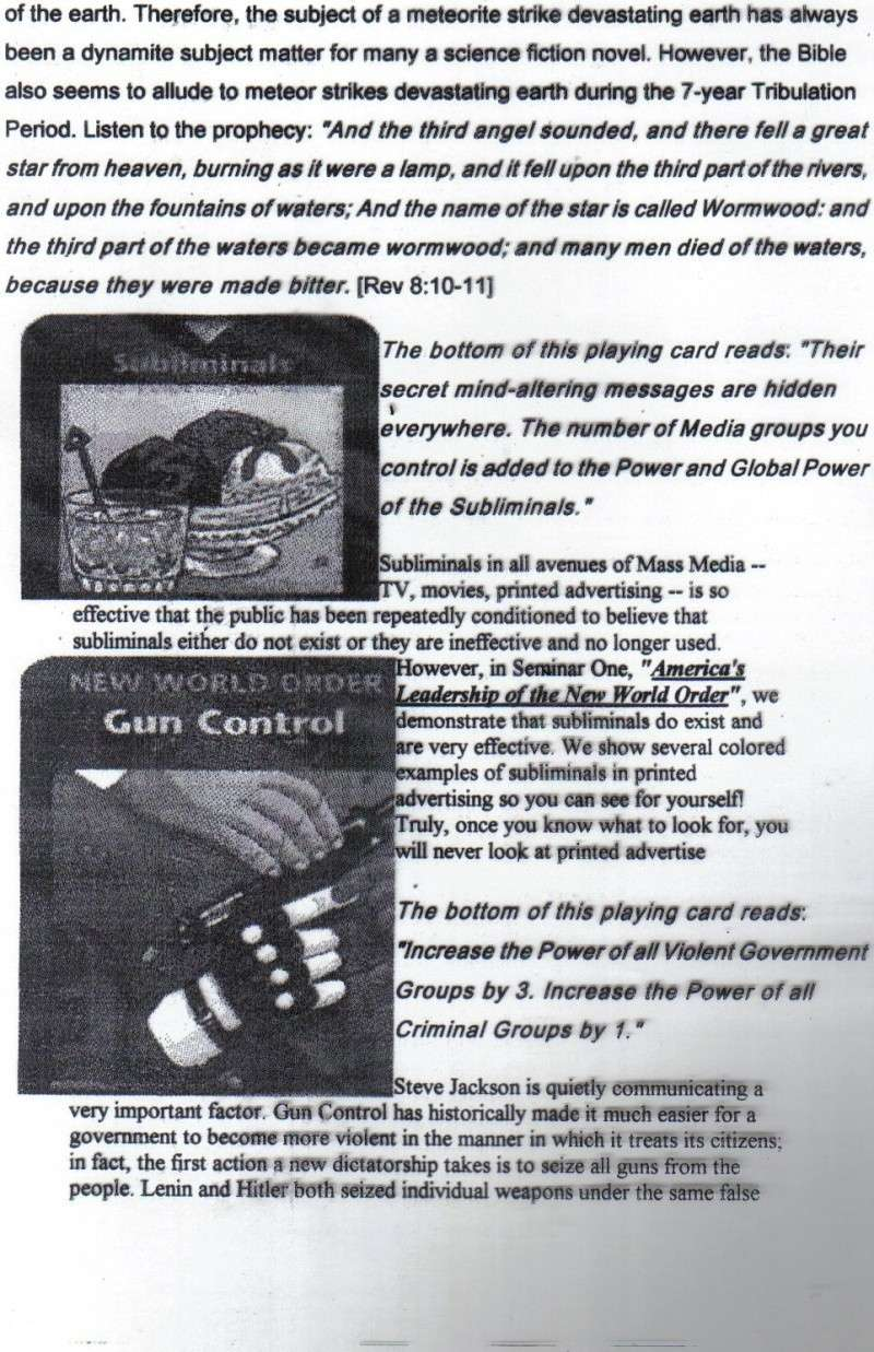 One World Government Expose - INWO SUB-GENIUS GAMES - HOW THE RICH WILL DESTROY TO CONQUER, A GAME BY STEVE JACKSON Pp2210