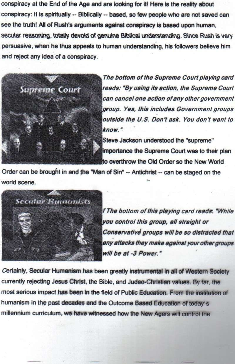 One World Government Expose - INWO SUB-GENIUS GAMES - HOW THE RICH WILL DESTROY TO CONQUER, A GAME BY STEVE JACKSON Pp2510