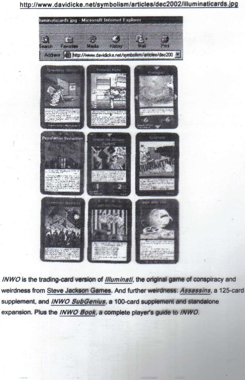 One World Government Expose - INWO SUB-GENIUS GAMES - HOW THE RICH WILL DESTROY TO CONQUER, A GAME BY STEVE JACKSON Pp410