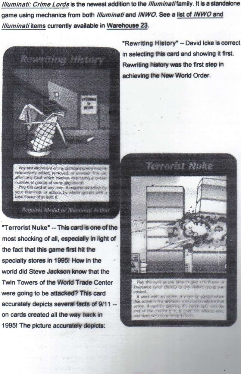 One World Government Expose - INWO SUB-GENIUS GAMES - HOW THE RICH WILL DESTROY TO CONQUER, A GAME BY STEVE JACKSON Pp510