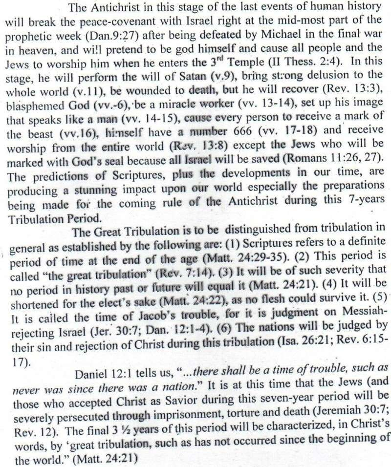 TOPIC I : FUTURE EVENTS / RAPTURE, REBUILDING OF THE 3RD TEMPLE, JUDGMENT SEAT OF CHRIST, MARRIAGE SUPPER OF THE LAMB, TRIBULATION PERIOD, RUSSIAN INVASION, BATTLE OF ARMAGGEDDON, SECOND COMING IN GREAT POWER, SATAN IN BOTTOMLESS PIT, ETC.... St1410
