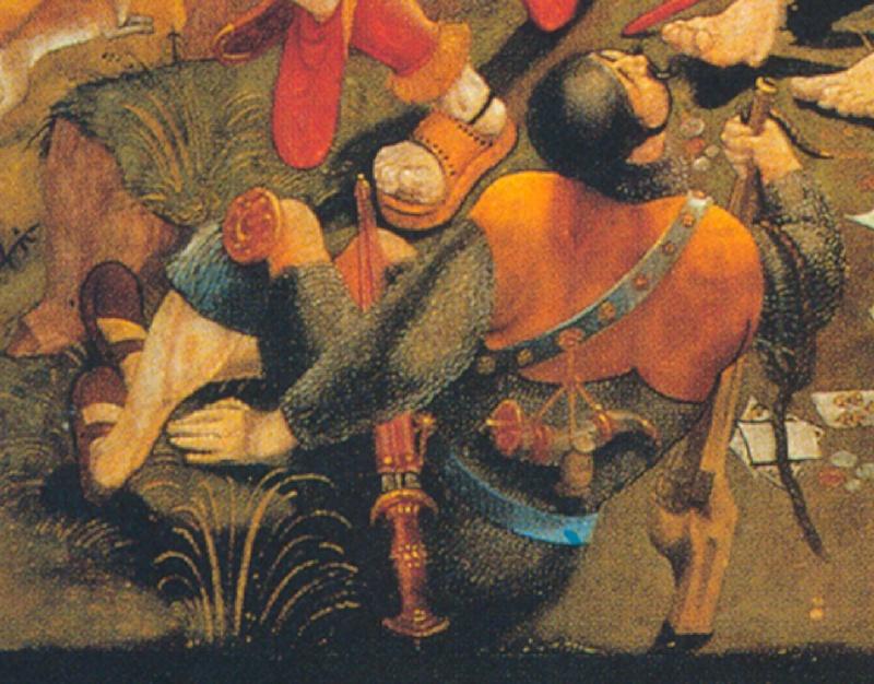 Le trou dans la crosse de l'arquebuse 1518-110