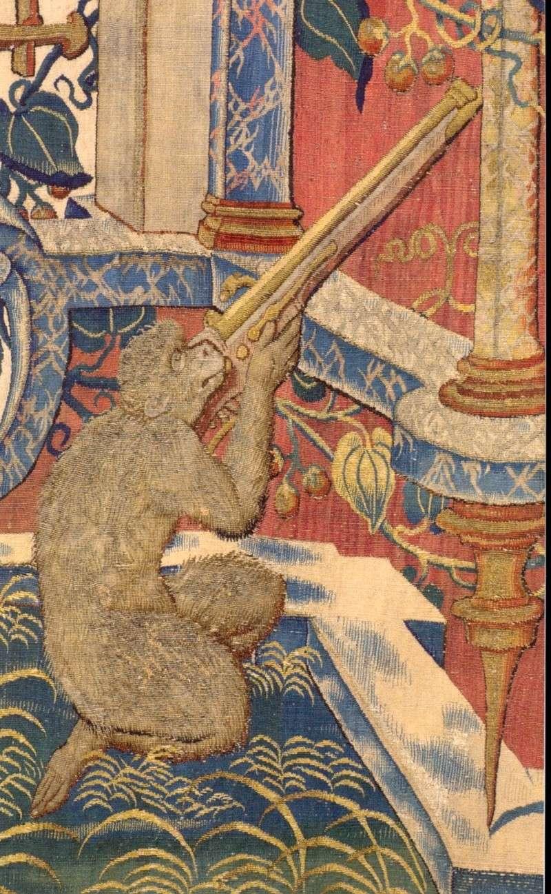 Le trou dans la crosse de l'arquebuse 1542-110