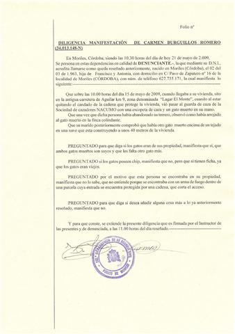 La GUARIDA - Guarda de Caza pillado asesinando gatos caseros 317