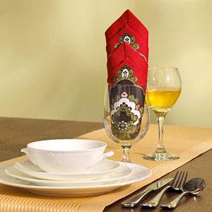 Gấp khăn ăn đẹp cho bàn tiệc Ss_10116