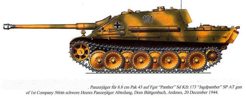 Jagdpanther et camouflage Jagd110