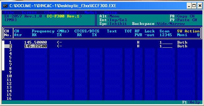 Programe si interfete de programare statii radio Icf110