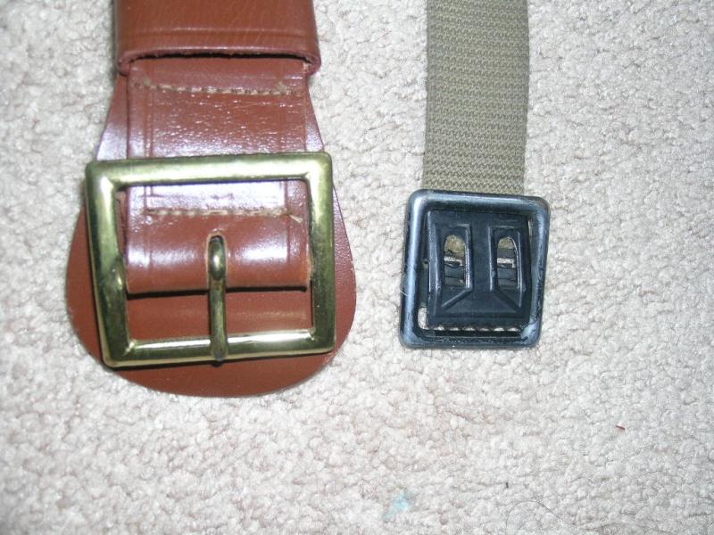WW2 EM Leather Garrison Belt, size 40 02711