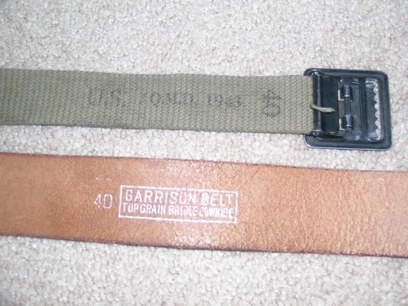 WW2 EM Leather Garrison Belt, size 40 02810