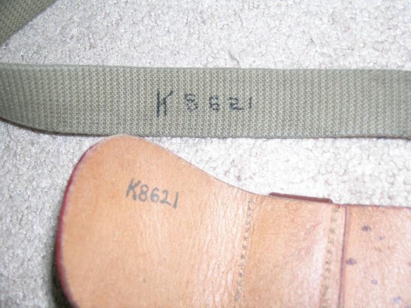 WW2 EM Leather Garrison Belt, size 40 02910