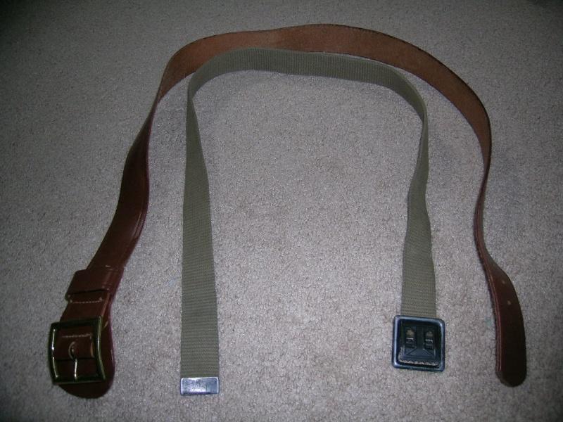 WW2 EM Leather Garrison Belt, size 40 03010