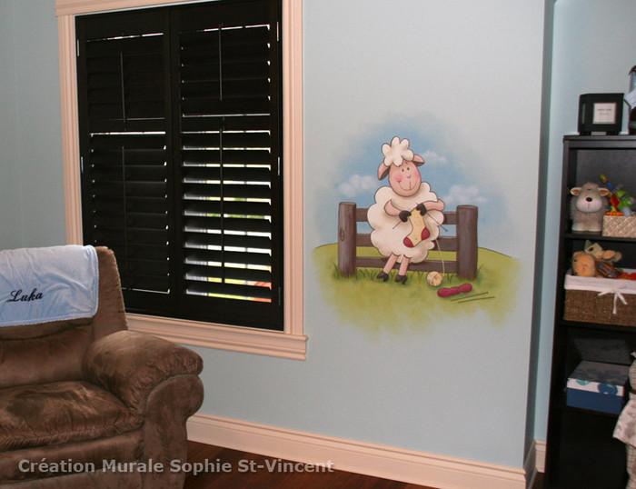 Chambre bébé : thème moutons - Premières photos P4 Animau10