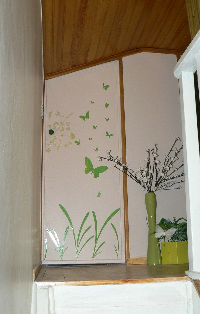 Une chambre mansardée comme un jardin (photo p.1 et 7) Mur_po11