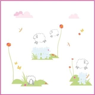 Chambre bébé : thème moutons - Premières photos P4 Produc10
