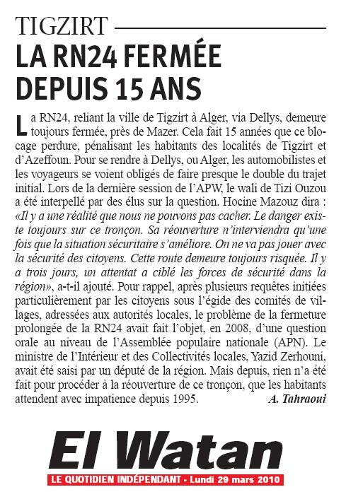 DELLYS- TIGZIRT, LA RN 24 FERMEE DEPUIS 15 ANS !!! Rn24fe10